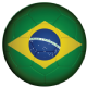 Brazil Football Flag 58mm Keyring